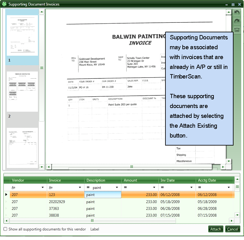 Topic Attaching To A Document Already In The TimberScan Or The - Paperless invoice approval system