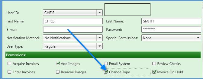 Topic: Invoice Type Maintenance